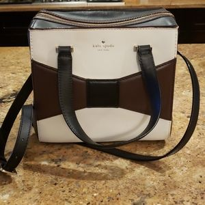 Kate Spade 'have courage' bag. Brown, black cream